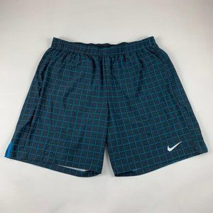 Nike Checkered Dri Fit Athletic Shorts XXL